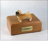 Brown Lhasa Apso Dog Figurine Pet Cremation Urn - 772