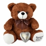 Brown Paw Print Heart Teddy Bear Pet Cremation Urn