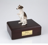 Brown Whippet Dog Figurine Pet Cremation Urn - 244