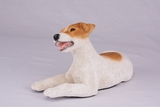 Brown White Jack Russell Hollow Figurine Pet Cremation Urn - 2751