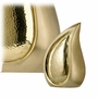 Brushed Brass Teardrop Cremation Urn