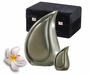 Brushed Pewter Teardrop Cremation Urn