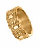 Buddies 3D Pet Paw Print / Nose Print 14k Gold Memorial Remembrance Ring