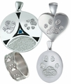 Buddies 3D Pet Paw Print & Nose Print Keepsake Memorial Jewelry