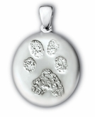 Buddies 3D Pet Paw Print / Nose Print Sterling Silver Memorial Pendant