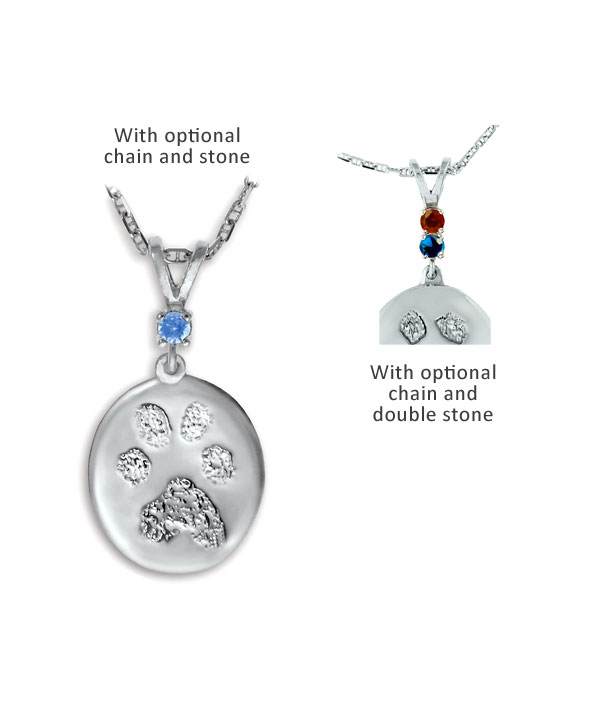 84395d83dd1a Family Ties Buddies 3D Pet Paw Print / Nose Print Sterling Silver Memorial  Pendant - Four