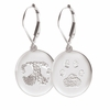 Buddies 3D Pet Paw Print / Nose Print Sterling Silver Memorial Standard Earrings