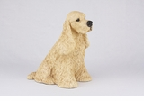Buff Cocker Spaniel Hollow Figurine Pet Cremation Urns - 2730
