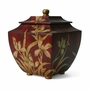 Burgundy Hand Painted Orchid Cremation Urn