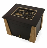 Butterflies Cut Panel Craftsman MDF Wood Memory Chest Cremation Urn