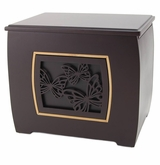 Butterflies Modern Companion Wood Cremation Urn