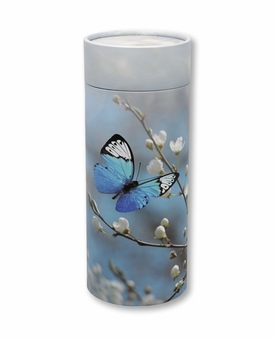 Butterfly Blossom Eco Friendly Cremation Urn Scattering Tube in 2 sizes
