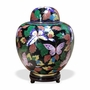 Butterfly Cloisonne Cremation Urn