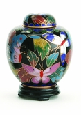 Butterfly Miniature Cloisonne Cremation Urn
