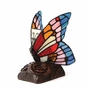 Butterfly on Rose Blue Tiffany Style Lamp Keepsake Cremation Urn