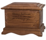 Cambridge Walnut Wood Cremation Urn