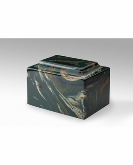 Camouflage Classic Cultured Marble Cremation Urn Vault - Engravable