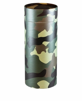 Camouflage Eco Friendly Cremation Urn Scattering Tube in 6 sizes