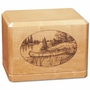 Canoe Classic Maple Wood Cremation Urn