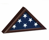Capitol Flag Display Case with Dark Cherry Finish