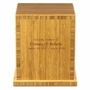 Caramelized Bamboo Eco Friendly Cremation Urn
