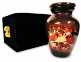 Cardinal Collage keepsake Picture Cremation Urn
