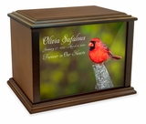 Cardinal Eternal Reflections Wood Cremation Urn - 3 Sizes