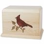 Cardinal Maple Wood Cremation Urn