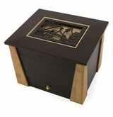 Cardinals Cut Panel Craftsman MDF Wood Memory Chest Cremation Urn