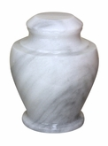 Carpel Antique White Marble Cremation Urn