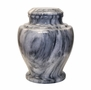 Carpel Cashmere Gray Marble Cremation Urn