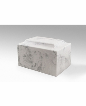 Carrera Classic Cultured Marble Cremation Urn Vault - Engravable