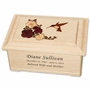 Cascading Roses and Hummingbird Maple Wood Cremation Urn