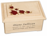 Cascading Roses Maple Wood Cremation Urn