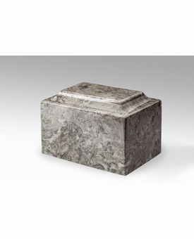 Cashmere Gray Classic Cultured Marble Cremation Urn Vault - Engravable