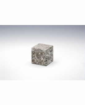 Cashmere Gray Small Cube Cremation Urn - Engravable