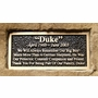 Cast Stone Pet Memorial Rock with Bronze Plaque and Cremation Urn - Design 2