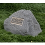 Cast Stone Pet Memorial Rock with Bronze Plaque and Cremation Urn - Design 4