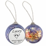 Cat Paw Prints in Heart Santa and Sleigh Memorial Holiday Tree Ornament