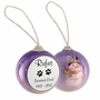 Cat Paw Prints Snowman Memorial Holiday Tree Ornament