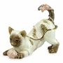 Cat Playing with Yarn Jeweled Keepsake Cremation Urn