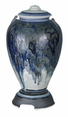 Celeste Dark Blue Hand-Thrown Porcelain Cremation Urn