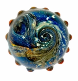 Celestial Cremains Encased in Glass Cremation Paperweight
