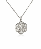 Celtic Flower Sterling Silver Cremation Jewelry Pendant Necklace