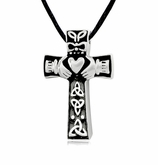 Celtic Knots with Heart Stainless Steel Cremation Jewelry Pendant Necklace