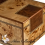 Chambord Maple Burl Wood Cremation Urn