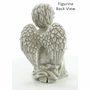 Cherub with Cat Garden Marker or Home Figurine Memorial Sculpture