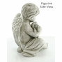 Cherub with Dog Garden Marker or Home Figurine Memorial Sculpture