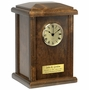Chestnut Clock Tower Wood Cremation Urn