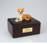 Chihuahua Dog Figurine Pet Cremation Urn - 051